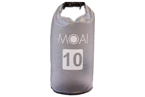 moai dry bag 10l grijs
